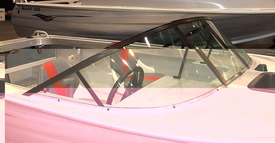Vintage boat windshield